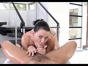 providing Peta Jensen a oiled jizz-shotgun down her greasy poon