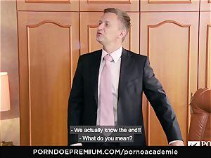 porn ACADEMIE Lana Rhoades loves porking French weenie