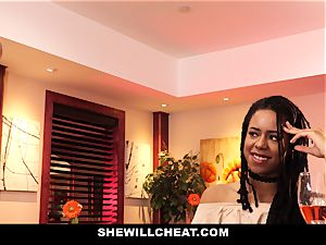SheWillCheat - cheating wife plows big black cock in douche