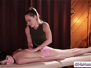 masseuse Carter Cruise puts yoni eggs Cadey Mercurys snatch and munches it