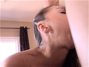 Pint sized Sara Luvv smashes her fathers friend