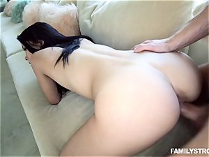 super-fucking-hot nubile Alain Kristar caught by her step-dad