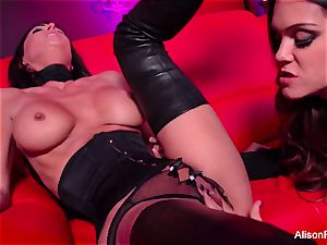 red apartment and super-fucking-hot strap-on activity