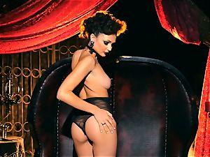 slim small Ariana Marie magnificent rubber solo getting off