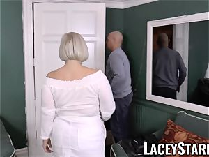 LACEYSTARR - huge-chested GILF negotiates a supreme beaver deal