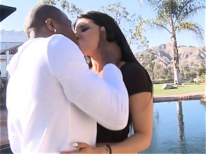 Romi Rain takes yam-sized black trouser snake in her humid crevice