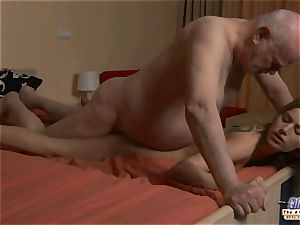 young assistant fucks old dude boss romps fabulous chick