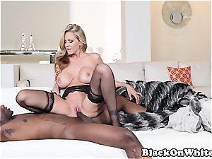 blond milf banging a black stud