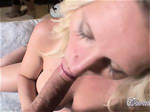 Devon Lee is enjoying her man's cane slammed in her yummy facehole