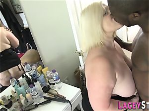 Lacey Starr banged rock-hard by a dark-hued dude