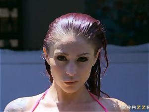 Monique Alexander takes it deep by the monster lollipop of poolboy Danny D