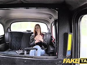 faux taxi slim ginger-haired loves rough fuck-fest