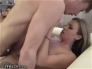 Rocco Siffredi Guides dude in romping two Italian honeys