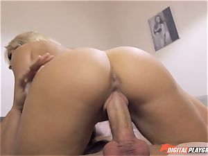This pecker is fatter than yours Karlie Simone makes justice with her boyfriend from cuckold on her