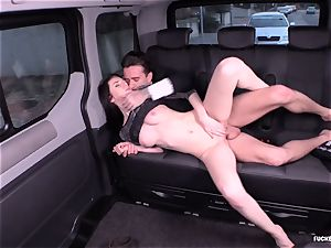 ravaged IN TRAFFIC - Russian babe ravages firm in the car