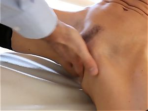 spraying miss India Summers bashed in the backside