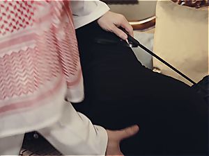 Arab wife punished by insane spouse