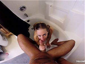 raw point of view bathroom fucky-fucky with Nicole Aniston