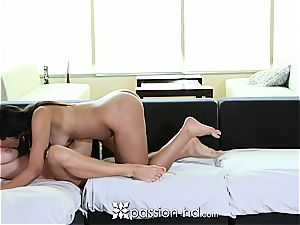 Naomi Kennedy and Natalia Starr sharing a man-meat