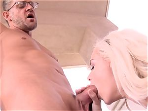 super jummy Elsa Jean takes no time accepting this yam-sized prick