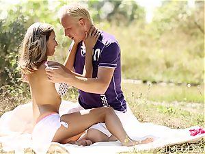 blond teenage handsome fun in the sun