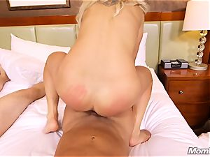 warm Swedish blondie tears up two large spears