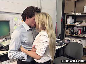 SheWillCheat - big-chested milf boss screws fresh employee