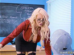 bitchy professor Nicolette Shea shagged by a bad schoolgirl