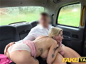fake taxi huge-boobed cum hungry blond Skyler Mckays