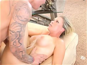 Devon Lee babe getting mans ball butter split in her mouth