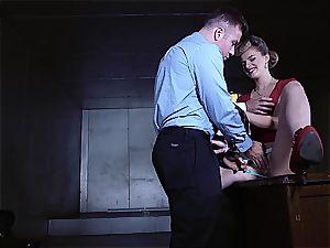 Replicant slut can't pass the Voight-Kampff test