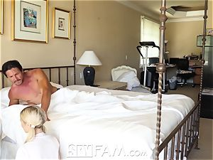 SpyFam Step daughter-in-law Piper Perri tear up and internal cumshot
