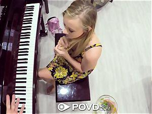 POVD blondie Bailey Brooke drills piano lesson teacher