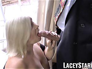 LACEYSTARR - horniest grannie analled before jizz shot