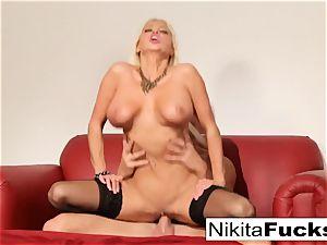 Russian mummy Nikita takes a large cock