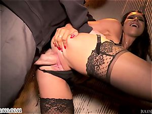 Romi Rain - epic scorching fledgling pornography in the street