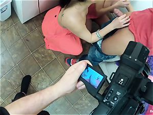 Behind the scenes joy with Britney Amber