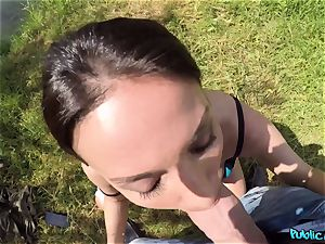 huge-chested fisherwoman Anissa Kate gets porked in tent