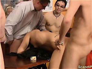 Scandi assfuck gang-fuck intercourse