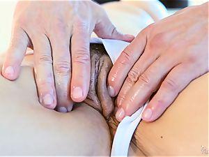 Roasting steaming towheaded Sarah Vandella luvs to boob shag