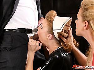 poon striking the insatiable fuckfest gimp maid Britney Amber