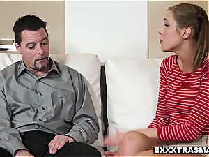 Stepdaughter Molly learns to have fuck-fest