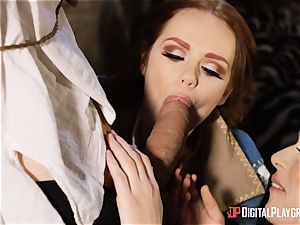 honies Ella and Olive fantasy penetrate with monster chisel