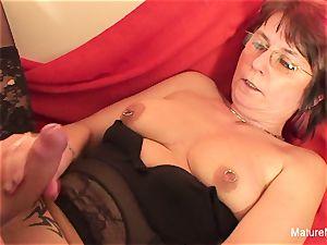 Punky pierced grandma likes to inhale and screw