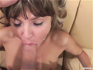 Gina Gerson loves getting her face sprayed with cum