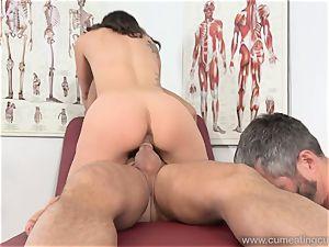 Jade Nile Has Her husband deepthroat manmeat and observe Her