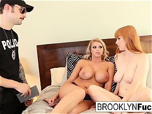 successful policeman Alex screws Brooklyn and Penny