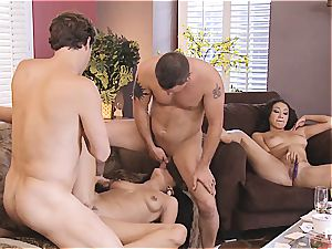 gang intercourse and Hangman with super-cute couples four
