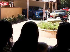 LETSDOEIT - wild teenagers Scam Their fat salami Neighbor