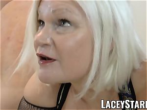 LACEYSTARR - UK grannie group-fucked and munching jizz